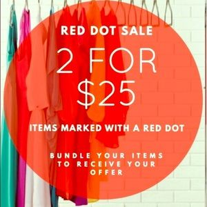 🔴Fall Sale! 2 for $25 any items with Red Dot🔴